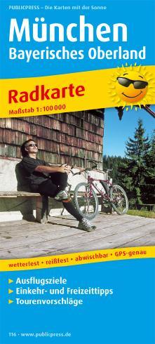Radwanderkarte München - Bayerisches Oberland