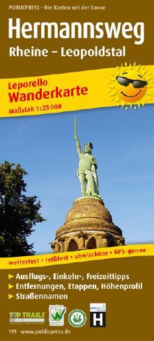 Wanderkarte Hermannsweg