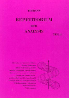 Repetitorium der Analysis, Teil 2