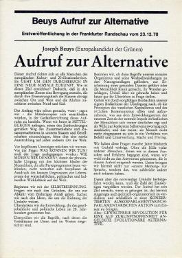 Aufruf zur Alternative