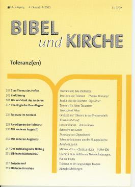 Bibel und Kirche / Toleranz(en)