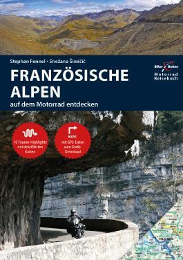 Motorrad Reiseführer Französische Alpen - Karten Bundle