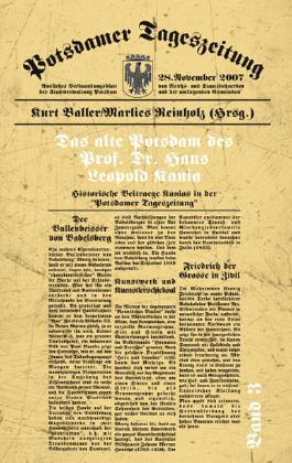 Das alte Potsdam des Prof. Dr. Hans Leopold Kania