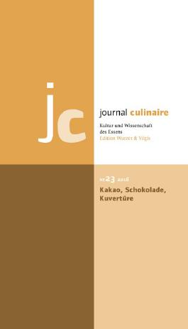 journal culinaire. Kultur und Wissenschaft des Essens
