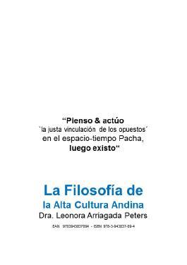 La Filosofía de la Alta Cultura Andina.