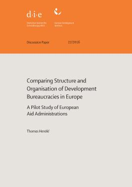 Comparing structure and organisation of development bureaucracies in Europe