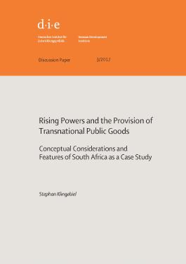 Rising powers and the provision of transnational public goods
