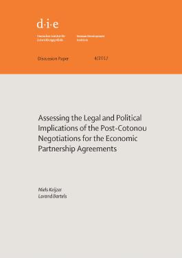 Assessing the legal and political implications of the post-Cotonou negotiations for the Economic Partnership Agreements