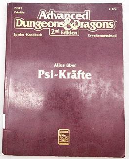 Advanced Dungeons& Dragons Spielerhandbuch Erweiterungsband. - Alles über Psi-Kräfte.