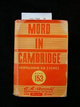 Mord in Cambridge. Kriminalroman. 1. Auflage.
