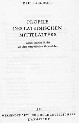 Profile des lateinischen Mittelalters