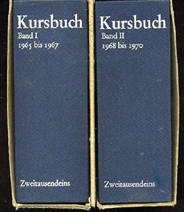 Kursbuch. Band I: Kursbuch 1-10, 1965-1967. Band II: Kursbuch 11-20, 1968-1970.