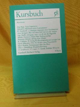 Kursbuch 58 - Karrieren.