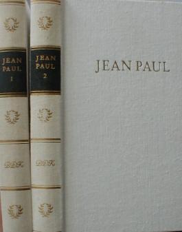 Jean Pauls Werke in 2 Bänden (Auswahl Wolfgang Hecht ) ( Herausgegeben von den nationalen Forschungs- und Gedenkstätten der Deutschen klassischen Literatur in Weimar - Bibliothek Deutscher Klassiker )