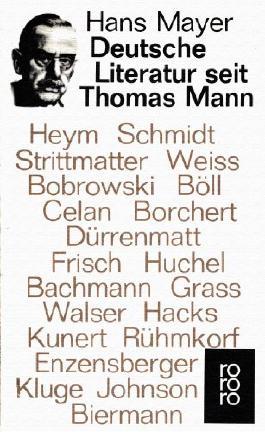 Deutsche Literatur seit Thomas Mann (Literaturkritik)