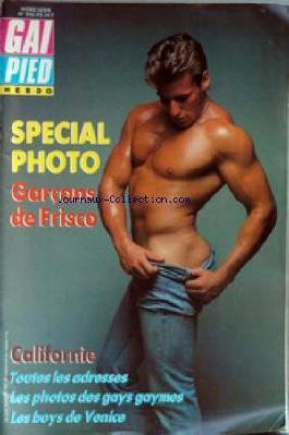 GAI PIED du 29/11/1986 - SPECIAL PHOTOS - GARCON DE FRISCO - CALIFORNIE - ADRESSES - PHOTOS DES GAYS GAYMES - LE SBOYS DE VENICE.