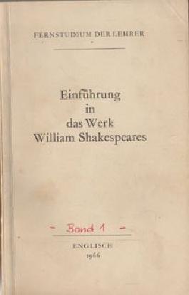 Einführung in das Werk William Shakespeares Lehrbrief