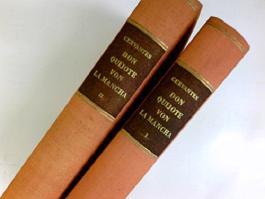 Leben und taten des scharfsinnigen edlen Don Quijote von La Mancha. In zwei /2/ Bänden.