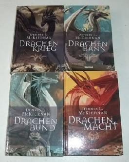 Die Drachen 1-4 komplett. (Drachenbann, Drachenkrieg, Drachenbund, Drachenmacht)
