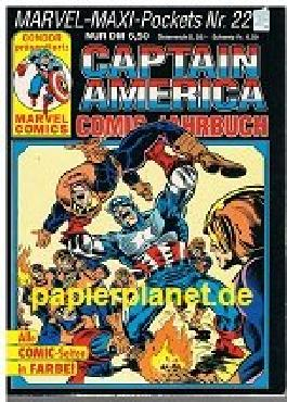 Captain America Comic-Jahrbuch, MARVEL-MAXI-POCKETS Nr. 22 , Condor Marvel Comics.