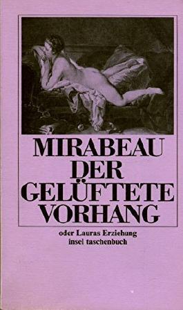 DER GELÜFTETE VORHANG oder Lauras Erziehung. Aus dem Französischen von Eva Moldenhauer.