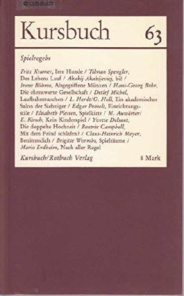 Kursbuch 63: März 1981: Spielregeln