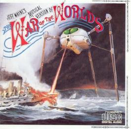 JEFF WAYNE'S MUSICAL VERSION OF THE WAR OF THE WORLDS. UNBARCODED ORIGINAL 1984 FIRST ISSUE DBL CD IN FAT BOX CASE. CDCBS 96000.