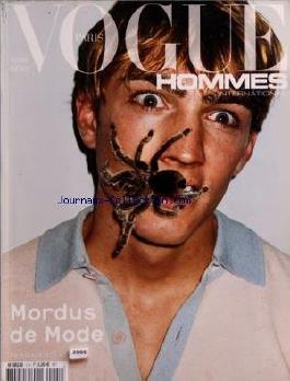 VOGUE HOMMES INTERNATIONAL PARIS du 01/04/2005