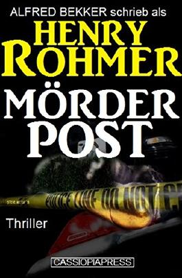 Mörderpost: Thriller