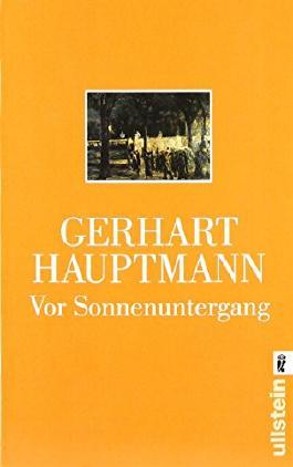 Vor Sonnenuntergang: Schauspiel von Gerhart Hauptmann (1. Oktober 2002) Taschenbuch