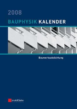 Bauphysik-Kalender 2008