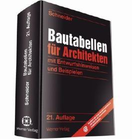 Bautabellen für Architekten, 21. Auflage