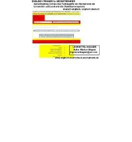 CD-ROM Englisch Trainer f?r Mechatroniker: deutsch / englisch; english / german (translation). Uebersetzungstraining technischer Fachbegriffe aus mechatronics / electronic engineering / robotics mit Lernstufen und Lernkontrolle ( Karteikartensystem) (CD-ROM)(English / German) - Common