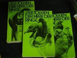 Der Herr der Ringe. Drei Bände. (Komplett). Band I Die Gefährten. Band II Die zwei Türme. Band III Die Rückkehr des Königs.
