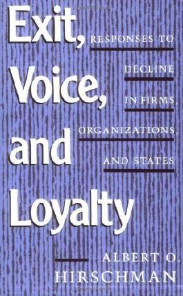 Exit, Voice and Loyalty: Responses to Decline in Firms, Organizations and States by Hirschman ( 1990 )