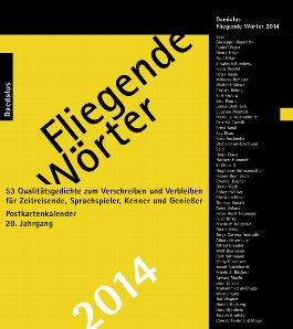 Fliegende Wörter, Postkartenkalender 2014