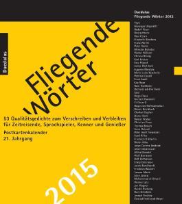 Fliegende Wörter 2015. Postkartenkalender
