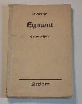 Goethe EGMONT Trauerspiel Reclam