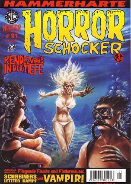 Hammerharte HORROR SCHOCKER Comic # 21 - Rendezvous in der Tiefe (Horror)