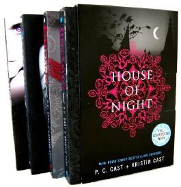 House of Night Novel 4 Books Collection Box Set By P.C & Kristian Cast (Untamed, Chosen, Betrayed, Marked)