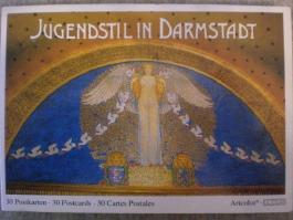 Jugendstil in Darmstadt: Ein Postkartenbuch