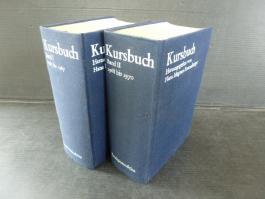 Kursbuch . Bd. 1: Kursbuch 1-10, 1965 - 1967 / Bd. 2: Kursbuch 11-20, 1968 - 1970 Verkleinerter Reprint der Hefte 1-20 in zwei Leinenbänden.