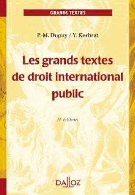 Les grands textes de droit international public - 8e éd.: Grands arrêts