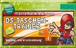 PONS DS Taschentrainer Mathematik 6. Klasse