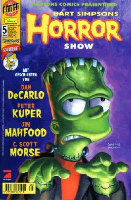 SIMPSONS Comics Bart Simpson Comic # 5 HORROR SHOW - SONDERHEFT 2001 (Simpsons, Bart Simpson)