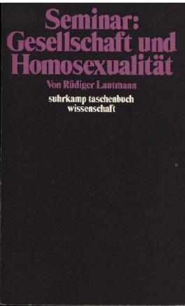 Seminar Gesellschaft und Homosexualität.