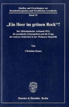 """""""Ein Heer im grünen Rock""""?"""
