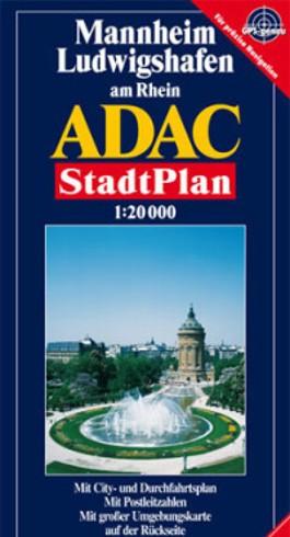 ADAC Stadtplan Mannheim, Ludwigshafen am Rhein