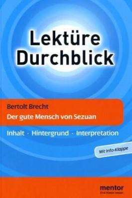 Bertolt Brecht: Der gute Mensch von Sezuan - Buch mit Info-Klappe