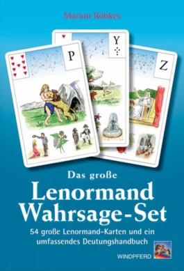 Das große Lenormand-Wahrsage-Set, Wahrsagekarten u. Buch 'Handbuch der großen Lenormand Wahrsagekarten'